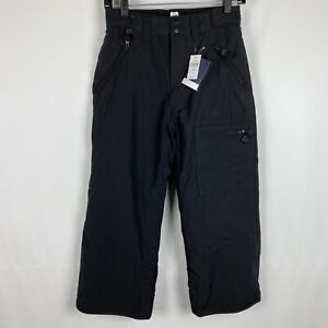 NWT Gap 7 Husky Kids Snowpants Black Fleece Lined Water Repellent Storm Cuffs