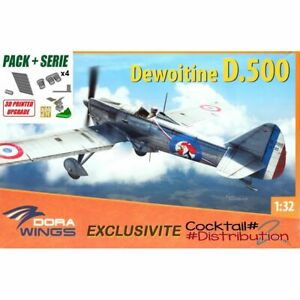 Dora Wings DoraDW32001+ SET PACKPLUS Dewoitine D.500 1/32