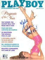 JULIE CIALINI SIGNED FULL 1995 PLAYBOY MAGAZINE + PMOY 95 RARE BECKETT BAS