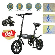 Folding Electric Bike Collapsible Moped Bicycle E-BIKE Riding USB Charging Phone
