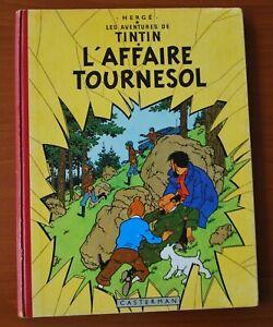 Tintin T18 l'Affaire Tournesol B20 EO belge 1956 Bon état