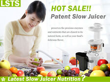 Red Newly Style  Cold Press Slow Juicer To Remain Original Flavor  & Nutrition