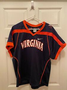 University of Virginia Cavaliers UVA Lacrosse Team Issued Nike Blue Jersey Large