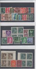 3. Reich Briefmarken Konvolut Sammlung 47 Stück WWII