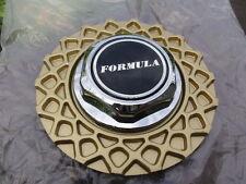 "FORMULA KONIG 82-2 CHROME HEX GOLD 6-3/8"" or 6.37 (82-1 WAFFLE) WHEEL CENTER CAP"
