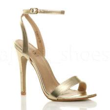 Sandali e scarpe slim con tacco altissimo (oltre 11 cm) oro per il mare da donna