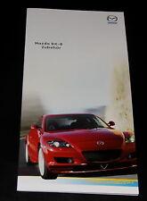 MAZDA rx-8 accessorio PROSPEKT 11 03 brochure 2003 AUTO AUTOMOBILI AUTO prospetto opuscolo