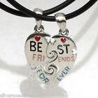 Ciondolo CUORE BEST FRIENDS Collana Coppia diviso amicizia amore pendente