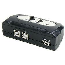 2 Port USB 2.0 Manual Sharing Switch BOX Printer Scanner 2:1 1A 2B SELECTOR LC