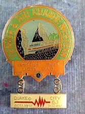 Lions Club Pin Whittier California 1988 Denver Rio Grande Western Quake City
