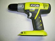 "NEW Ryobi 18V Drill Driver 1/2"" NiCad or Lithium (Bare Tool) w/Bit,& Manual P271"