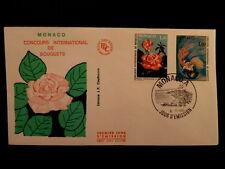MONACO PREMIER JOUR FDC YVERT 1251/52   ROSE PRINCESSE STEPHANIE   1,30+1F  1980