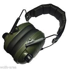 Elektronischer aktiver Gehörschutz - Grün - NEU & OVP