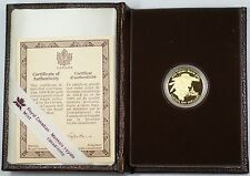 1989 Canada Sainte-Marie $100 Dollar 1/4 Oz Gold Proof Coin as Issued