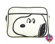 PEANUTS SNOOPY WHITE  RETRO SHOULDER MESSENGER SPORT SCHOOL BAG BNWT