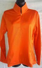Nike Women's Golf Thermal Pullover 1/2 Zip 685282 891 Size Large Orange / Grey