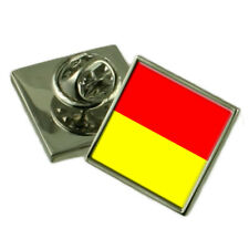 Wroclaw City Poland Flag Lapel Pin Engraved Box