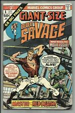 DOC SAVAGE GIANT SIZE #1 1975 THE MAN OF BRONZE IN MASTER OF THE RED DEATH GD/VG