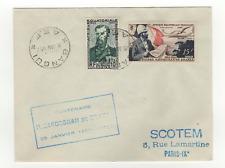 A.E.F. 2 timbres sur lettre FDC 1952 tampon Bangui /L507