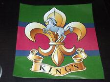 THE KINGS REGIMENT CREST STICKER 5X5 INCH