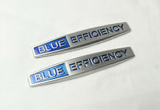 2Pcs For Blue EFFICIENCY Metal Vip Car Side Fender Silvery Sticker Badge Emblems