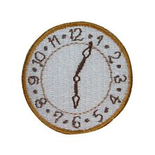 ID 3083 Clock Face Embroidered Iron On Applique Patch