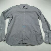 Ralph Lauren Purple Label Italian Made Long Sleeve Dress Shirt Stripes 16 1/2
