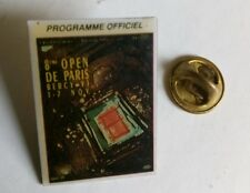 pin's - TENNIS 8ème open de Paris Bercy 1993 programme officiel - signé FFT