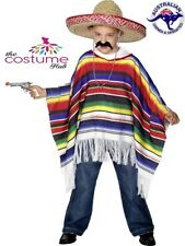 NEW Kids Mexican Poncho Fancy Dress Costume Boys Western Bandit