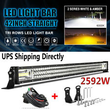 12D Tri Rows 42Inch 2592W LED Work Light Bar Flood Spot Combo Offroad Lamp Car