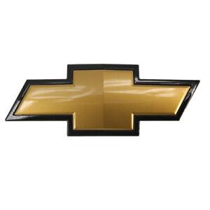 OEM Front Grille Bowtie Emblem Sign Logo Gold & Black For Chevy Silverado 1500