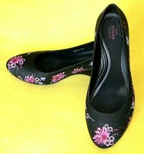 Crocs  Lina Graphic Wedge Floral Heel Pump Shoes - WOMEN'S 8