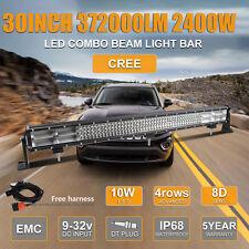 "30Inch Led Work Light Bar Combo 8D+ Quad Rows 2400W Wiring Kit vs 29"""