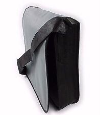 Grey Messenger Bag Non Woven Lightweight Shoulder Cross Body School College
