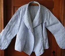 FLAX  Designs  LINEN JACKET   L  XL   NWOT  Draping Caper  2017 Sunshine