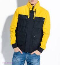 Tommy Hilfiger Men's SANIDER bomber  jacket black/yeliow 2XL