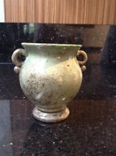 Vintage Antique Small Studio Pottery Green Urn Style Vase Dates Early 1900s