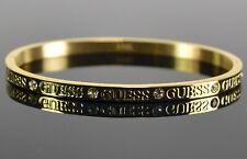 GUESS Jewellery Damen Bangle-Armreif 316L Edelstahl Vergoldet Logo Neu; K66 532