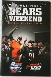 2010 Garrett Wolfe Signed Chicago Bears Draft Party Expo Program Auto