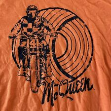 Steve McQueen TroyLee Designs Short Sleeve Motorcycle T Shirt Men's XXL Orange