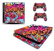 Graffiti Sticker/Skin PS4 Slim Playstation 4 Console/Remote controller,pss13