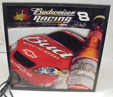 BUDWEISER RACING DALE JR. NUMBER 8 LIGHTED SIGN WALL DECOR
