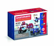 Brand New Magformers Police & Rescue Magnetic Set Magnets Construction building