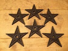 "Center Hole Texas Star Rustic Cast Iron Large 6 1/2"" wide (Set of 6) 0170S-02106"
