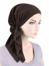 The Bella Scarf Pre-Tied Chemo Cancer Turban Blended Knit Brown