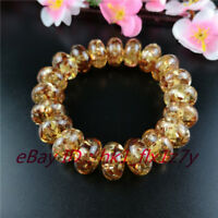 Natural Amber Elastic Bead Bracelet Fashion Charm Jewelry Lucky Amulet A69
