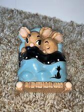 Vintage Pendelfin Bunny Bunnies Figurine Twins In Bed Rabbit Easter