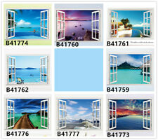 Window Ocean Scenery Home Bedroom Decor Removable Wall Sticker Decal Decoration