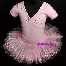 Rhinestone Ballerina Ballet Tutu Dancing Dress Pink Toddler Girl Size 2-3T BA003