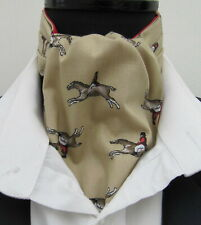Men/'s Horse Racing Equestrian green stirrups tie  100/% Silk ideal Gift Bn